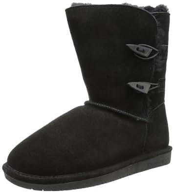 BEARPAW Women's Abigail Boot,Black,5 M US