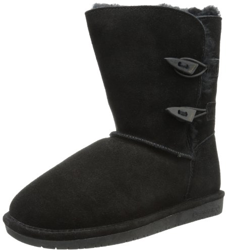 BEARPAW Women's Abigail Winter Boot, Black, 9 M US