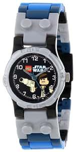 LEGO Kids' 9002946 Star Wars Han Solo Plastic Watch with Link Bracelet