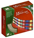 Noma/inliten 55131-88 Christmas Lights Multi Color Rope Light Set Tube Lights 18