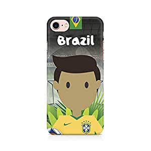 RAYITE Brazil Football Premium Printed Mobile Back Case Cover For Apple iPhone 7 Apple iPhone 7, Apple iPhone 7s,Apple iPhone 7 case,Apple iPhone 7 cover,Apple iPhone 7 back cover,Apple iPhone 7 128 Gb,iPhone 7