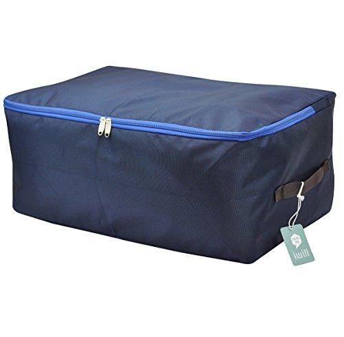 Ad alta densità tessuto di Oxford, sotto la base del sacchetto di bagagli, Closet Organizer Borsa morbida, Spazio Borsa Saver per la memorizzazione di abbigliamento, piumini, biancheria da letto, cuscini, tende (Deep Blue, L)