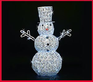 Lb International Led Scroll Snowman front-806522