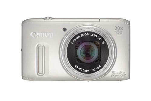 Canon Powershot SX240 HS Digital Camera - Silver (12.1 MP, 20x Optical Zoom) 3.2 Inch LCD