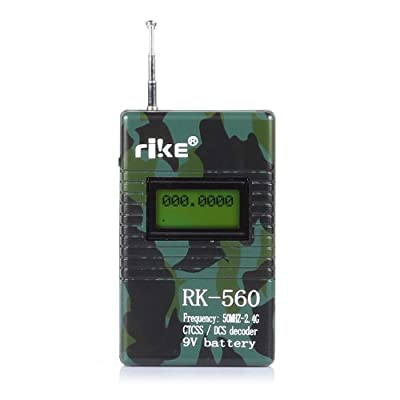 RK560 Frequency Counter 50MHz-2400MHz CTCSS/ DCS Decoder for Two-Way Radio *Camouflage*