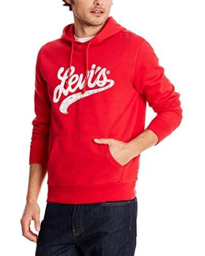 Levi's Sudadera con Capucha Graphic Hoody Rojo