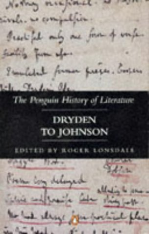 Dryden to Johnson (Hist of Literature) (v. 4)
