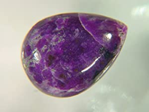 Genuine Sugilite Tear Drop Pear 13x 11x 5 mm Cabochon Lapidary 5.5ct Gemstone