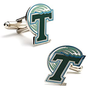 Buy NCAA Tulane Green Wave Cufflinks by Cufflinks