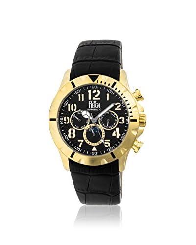 Reign Automatic Men's Nehru Black Leather Watch