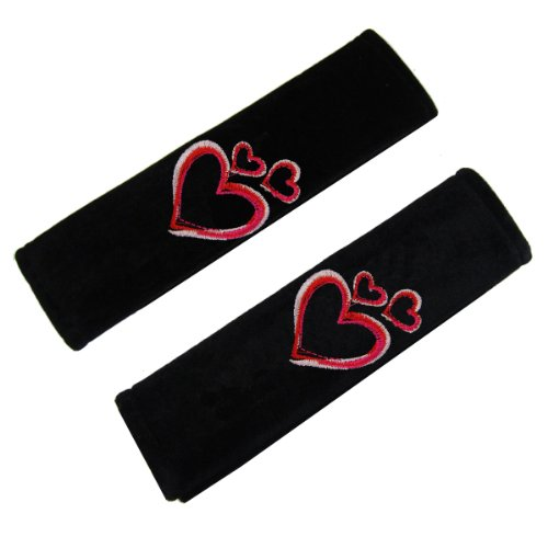Find Out Pair Of Embroidered Polyester Seat Belt Pads