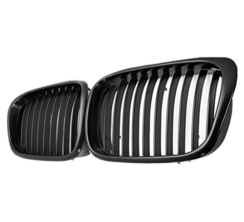 BaiFM Matte Black Front Kidney Grille Grills for BMW E39 5 Series 525i 528i 530i 540i M5 4-Door 1997-2003 (Bmw 5 Series Grill compare prices)