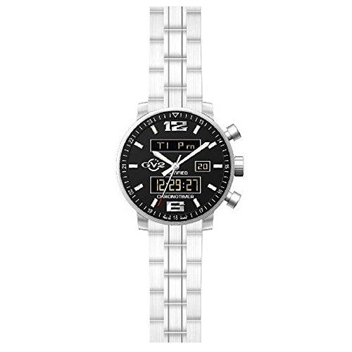 Gevril - Reloj de pulsera hombre, acero inoxidable, color plateado