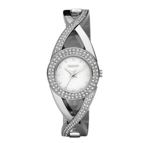 Dkny Quartz Silver Gem Dial Steel Band - Women's Watch NY4716