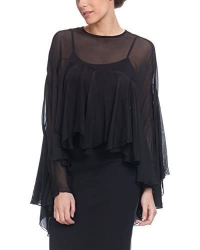 Tantra Blusa Seda With Ruffle Sleeves. Lining Include