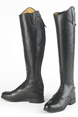 Ovation Ladies Gold Circuit Naturals Pro Field Boots - Size:07 Wide Color:Black
