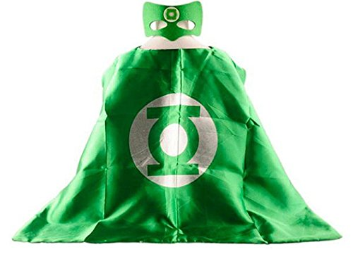 Superhero GREEN LANTERN CAPE AND MASK SET **Ships from US** Halloween costume