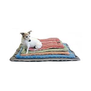 "Hemp Brown Stripe Dog Bedroll - Large 29""x43"""