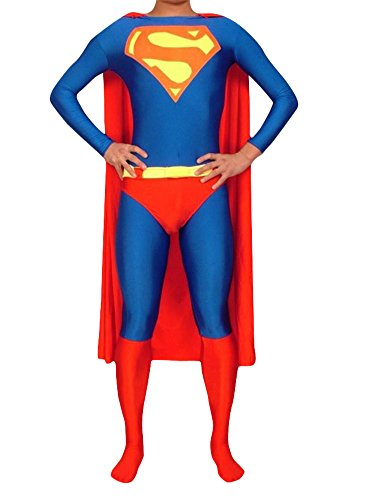 Adult Halloween Deluxe 1:1 Zentai Tights Superman Costume Jumpsuits (S) (Superman Costume For Sale)