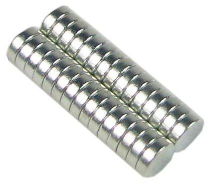 30 Neodymium Magnets 1/4 x 1/16 inch Disc N48