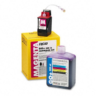 Kodak 21998800 Ink & Cart Kit, 1 Botl of Ink/1 Ink Ctg/1 Service Pack, Magenta