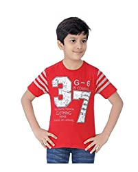 Mint Red Cotton Boy's t-shirt