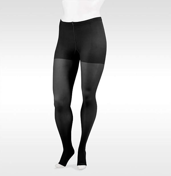 Juzo Soft 2002 30-40mmhg Open Toe Compression Pantyhose (Color: Black, Tamaño: 3 (III) Short)