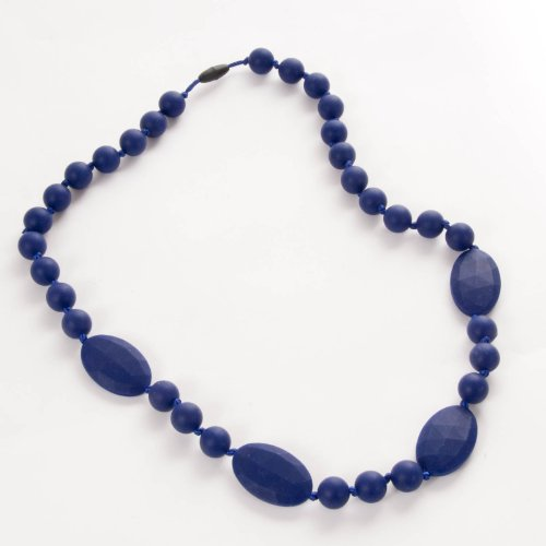 Sassy Baby Beadstm Mommy And Baby Mixed Beads Silicone Chew Teething Nursing Beads Necklace - Cobalt Blue front-214059