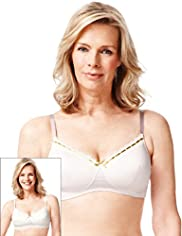 2 Pack Post Surgery Striped & Spotted A-DD Bras