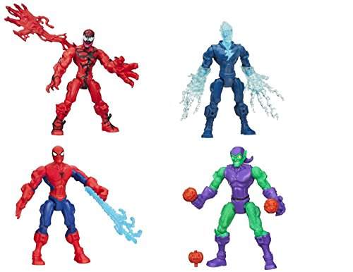 Marvel Super Hero Mashers Carnage, Marvels Electro, Spider-Man and Green Goblin Figures (Super Hero Mashers Electro compare prices)