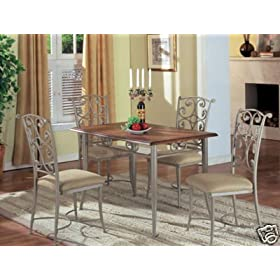 Metal and Wood Dining Room Furniture of Home Interior