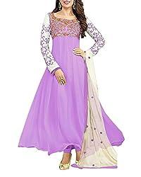 Surat Dream Women's Georgette Unstitched Dress Material(EC103, Purple)