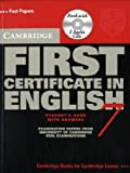 Cambridge First Certificate In English 7 with answers: Examination papers from University of Cambridge ESOL Examinations : English for Speakers of Other Languages (Cambridge First Certificate)