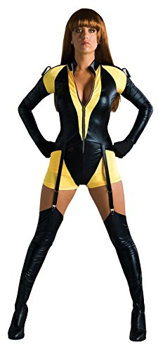 [UHC Women's Watchmen Silk Spectre Sexy Romper Yellow Dress Halloween Costume, S (6-8)] (The Watchmen Silk Spectre Costume)