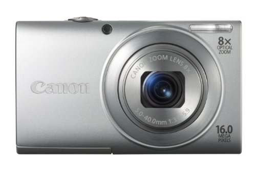Canon PowerShot A4000 IS Digital Camera - Silver