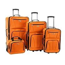 Rockland 4 Pc Luggage Set, Orange