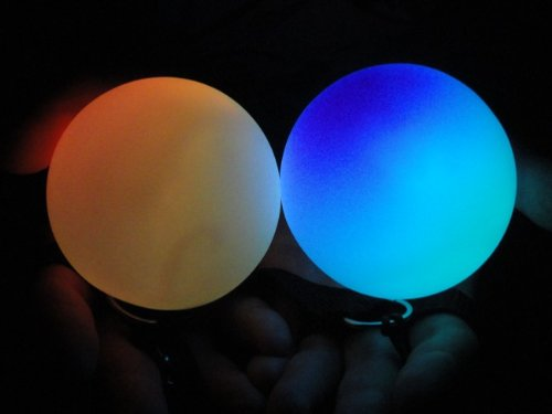 Multicolor LED Raver Poi Swings (Sold Individually)