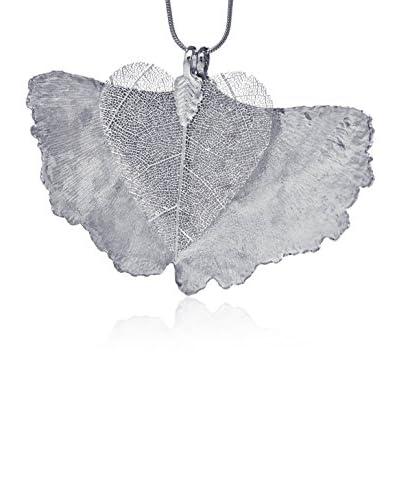 Ana Natural Leaves Collana Con Doppio Pendente