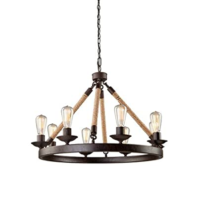 Artcraft Lighting CL278 Danbury 8 Light Rope Chandelier - 31 Inches Wide,