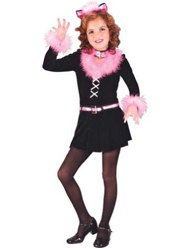 girls - Marabou Cat Child Sm Halloween Costume - Child Small