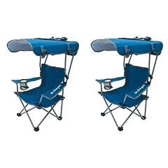 Kelsyus Kids Original Canopy Folding Backpack Chair (2 Pack) Blue by Kelsyus