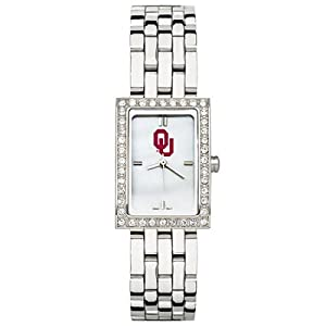 CZNSW22332Q-w-University of Oklahoma Watch - Stainless Steel & Cz by NCAA Officially Licensed