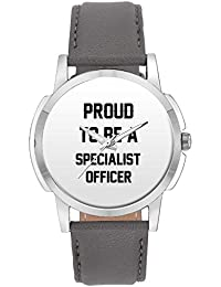Wrist Watch For Men - Proud To Be A Specialist Officer Best Gift For SPECIALIST OFFICER - Analog Men's And Boy's...