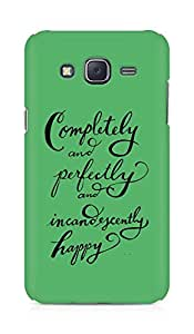 AMEZ completely and perfectly and incandescently happy Back Cover For Samsung Galaxy J5