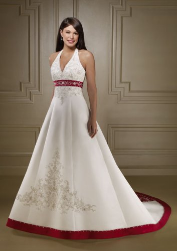 Delicate Chiffon with Crystal Beaded Wedding Gown