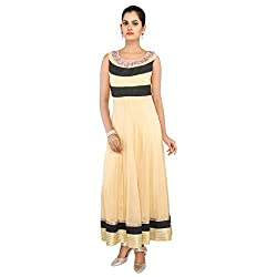 Madhus world Woman Golden Long Golden Gown With Hand Embroidered _GN00015E