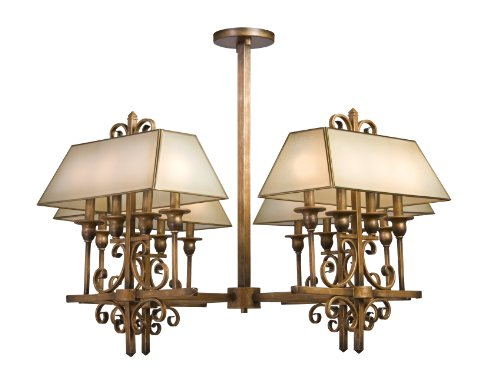 Artcraft Lighting AC1266 Rosedale 8-Lite Chandelier, Antique Bronze