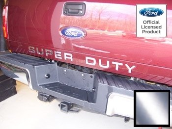 Ford SUPER DUTY Letter Inserts (thin decals) for Tailgate Chrome - CCHR (2008-2016) F250 F350 F450 Decals Stickers (Super Duty Sticker Insert compare prices)