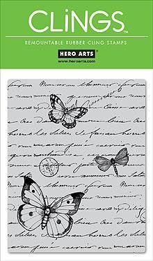 Hero Arts Antique Writing Repositionable Rubber Cling Stamp By The Each