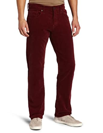 Mavi Men's Zach Jean, Burgundy, 29x32